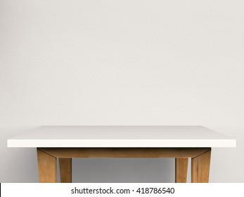 3d rendering empty table side view