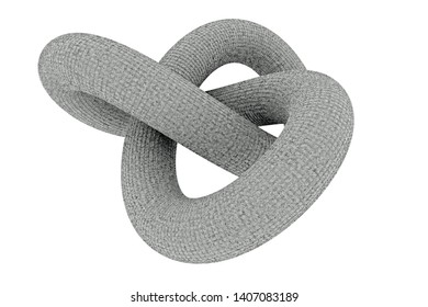 3d Rendering of endless concrete knot
