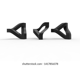 3d rendering of a escher traingle isolated in white studio background