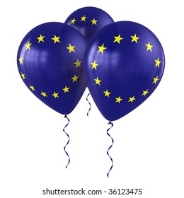 3d rendering of european balloons