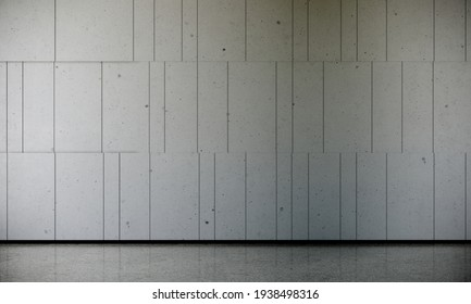 3d rendering exposed concrete wall and floor for background.