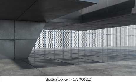 3D rendering of a an exterior background -  shallow focus