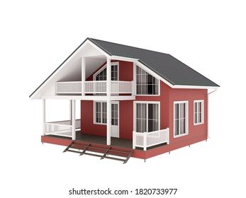 3D-Darstellung, Fassade des Hauses