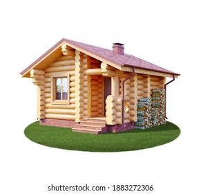 3D-Darstellung, Fassade des Hauses, Hausfassade