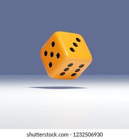 3d rendering of falling dice