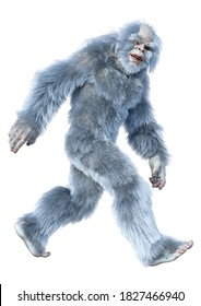 3D rendering of a fantasy creature yeti isolated on white background