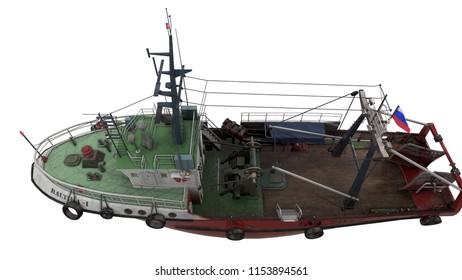 """3D rendering of fishing trawler type """"Baltic"""""""
