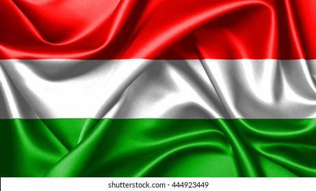 3D rendering flag of Hungary  is a horizontal tricolor of red, white and green. In this exact form, it has been the official flag of Hungary since October 1, 1957