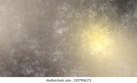 3d rendering flickering gold and red small particles. Abstract digital background graphic with simple random blurry small circles bokeh particular pattern design