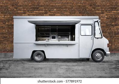 3D rendering of food truck