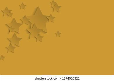 3d rendering Fortuna gold color abstract background and patterns