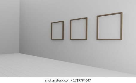 3d rendering free space with a frame