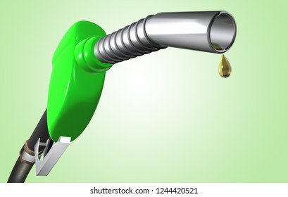 3D Rendering of a Gas Pump with clean fuel