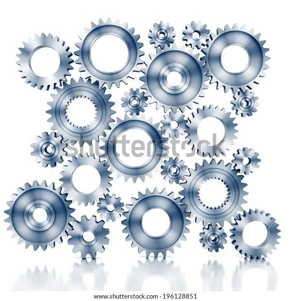 3d rendering Gears Background