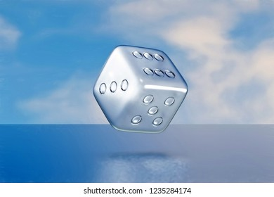 3d rendering of glass dice