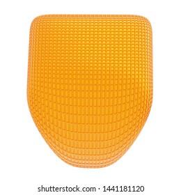 3d Rendering of golden shield