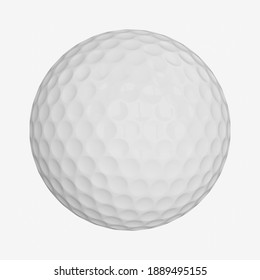3d rendering golf ball isolated on white background