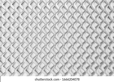 3D rendering graphics with three-dimensional shape patterns. Background, abstract material.