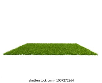 3d rendering of a grass patch for architectural use