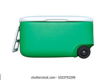 3D rendering of a green cooler isolated on white background
