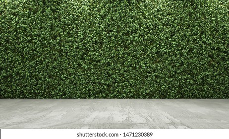 3d rendering of green wall
