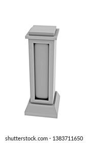 3d Rendering of Grey Stone stele
