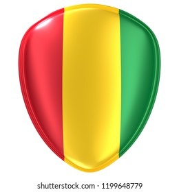 3d rendering of a Guinea flag icon on white background.