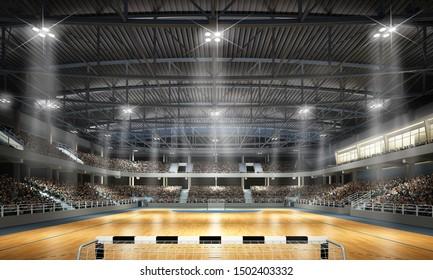 3d rendering of a handball arena