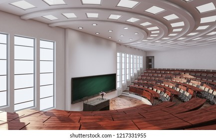 3d rendering of High Angle View Inside a Conference Hall