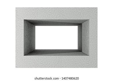 3d Rendering of hollow concrete block