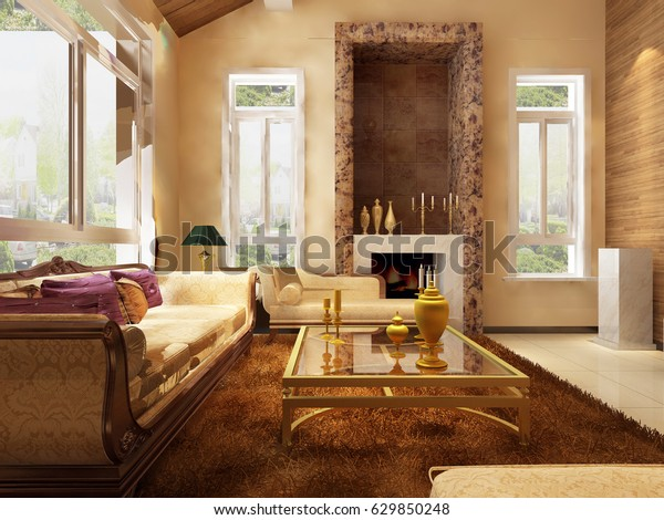 3d Rendering Home Interior | Buildings/Landmarks, Interiors Stock ...