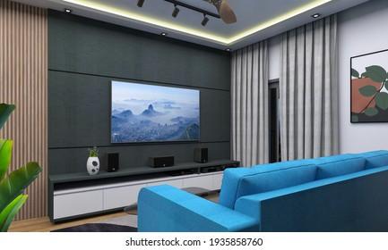 3d rendering house modern apartment