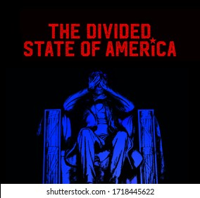 3D Rendering idea about partisanship and political division in the US.