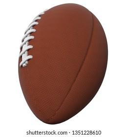 3D rendering illustration of an american football ball