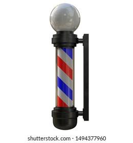3D rendering illustration of a barber pole