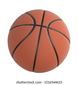 3D rendering illustration of a basketball ball