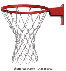 3D rendering illustration of a basketball ring