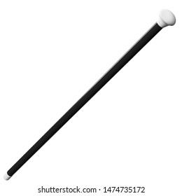 3D rendering illustration of a cabaret dance cane stick