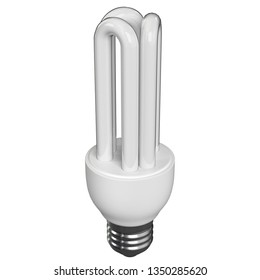 3D rendering illustration of a CFL stick lamp on a white background