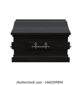 3D rendering illustration of a closed coffin