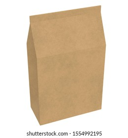 3D rendering illustration of a closed paper bag