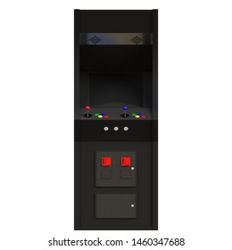 3D rendering illustration of a coin-op arcade