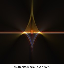 3D rendering illustration of a fractal light made from a geometric structure design g