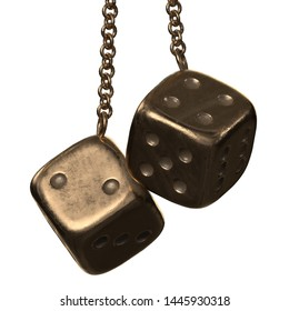 3D rendering illustration of fuzzy dice