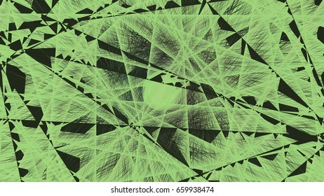 3d rendering illustration of a geometric net structure design r