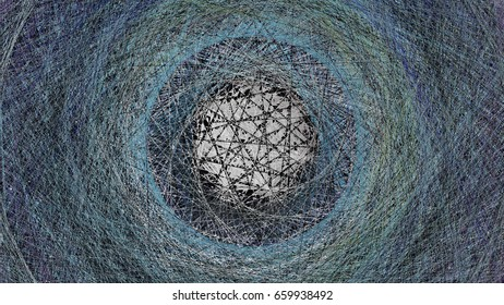 3d rendering illustration of a geometric net structure design u