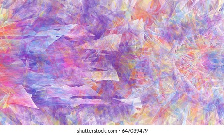 3d rendering illustration of a geometric triangle colorful abstract cloud burst