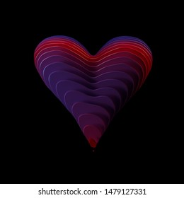 3d rendering 3d illustration Heart graphic resource bright colours surreal abstract creative design emote emoji no people isolated object love passion illustration pretty  feelings affection