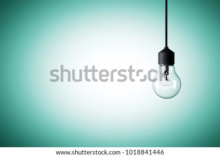 3 D Rendering Illustration Light Bulb Hanging Stock Illustration