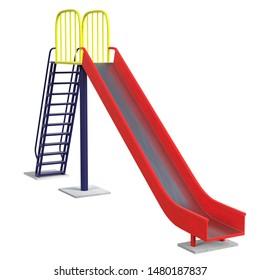 3D rendering illustration of a park slide